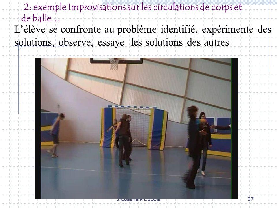 2: exemple Improvisations sur les circulations de corps et de balle…