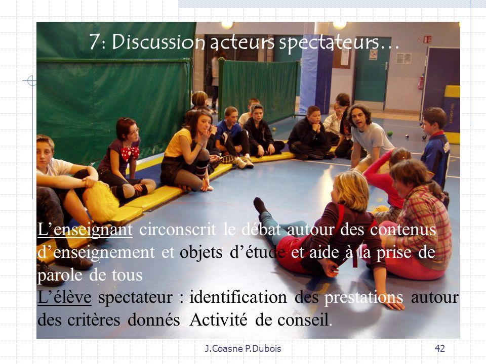7: Discussion acteurs spectateurs…
