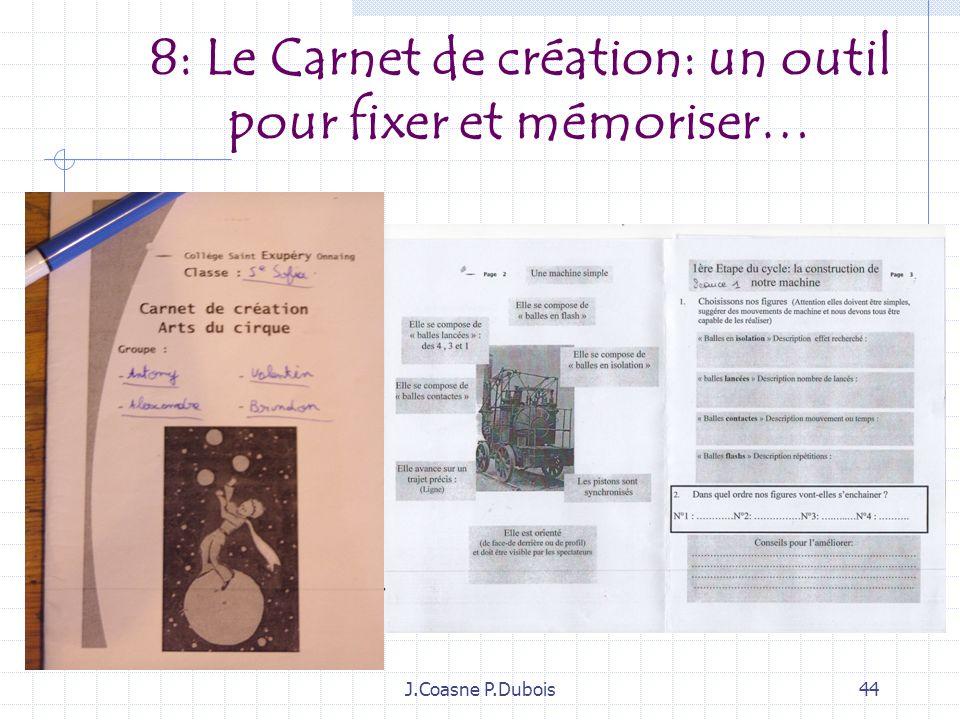 8: Le Carnet de création: un outil pour fixer et mémoriser…