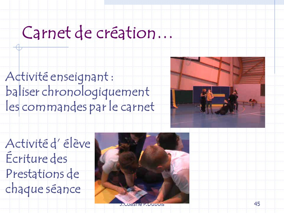 Carnet de création… Activité enseignant : baliser chronologiquement