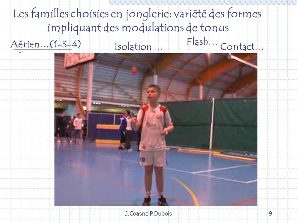 Les familles choisies en jonglerie: variété des formes