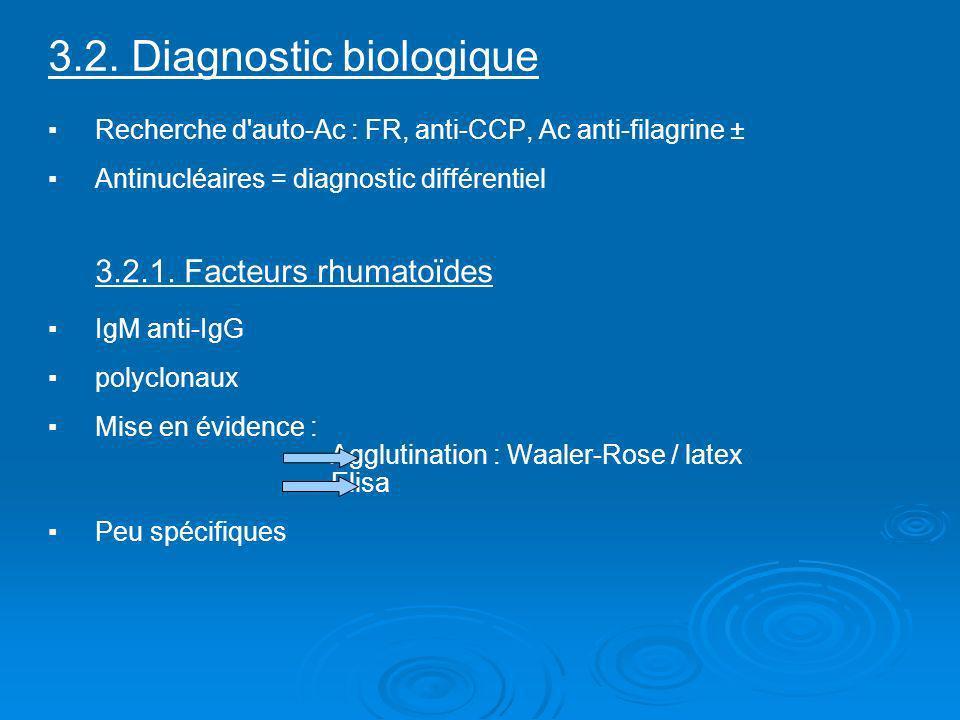 3.2. Diagnostic biologique