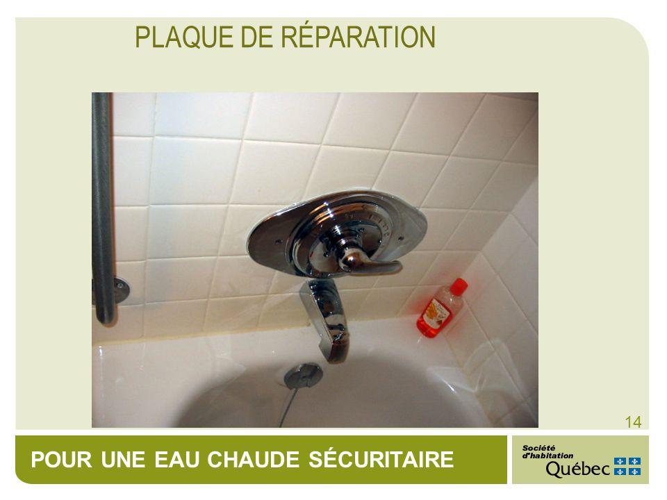 PLAQUE DE RÉPARATION