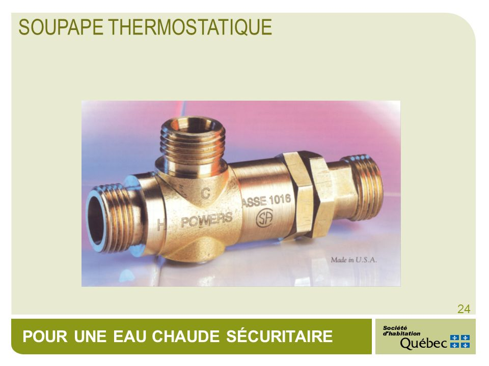 SOUPAPE THERMOSTATIQUE