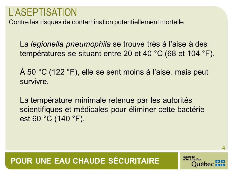 L'ASEPTISATION Contre les risques de contamination potentiellement mortelle.