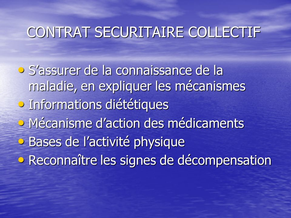 CONTRAT SECURITAIRE COLLECTIF