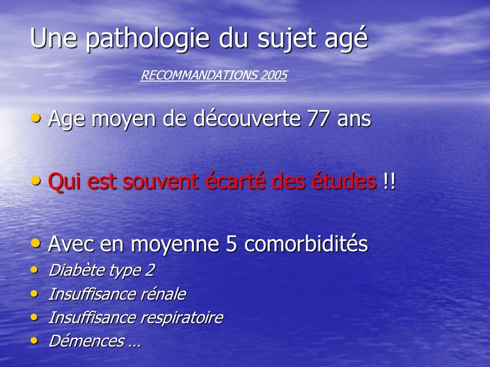 Une pathologie du sujet agé RECOMMANDATIONS 2005