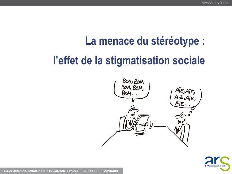 La menace du stéréotype : l'effet de la stigmatisation sociale