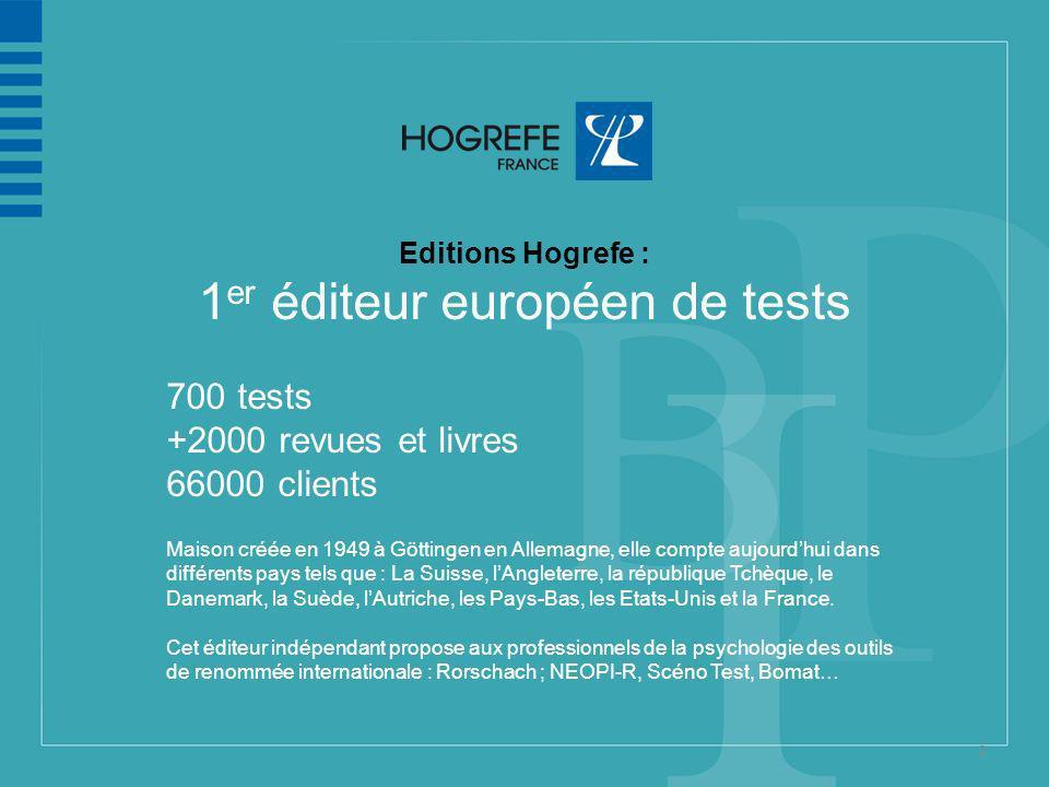 1er éditeur européen de tests