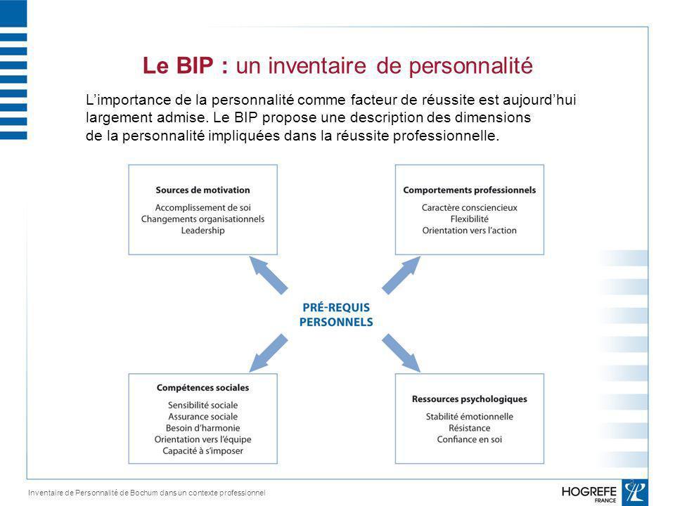 Le BIP : un inventaire de personnalité