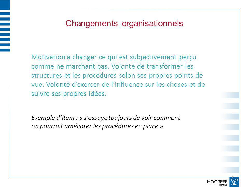 Changements organisationnels