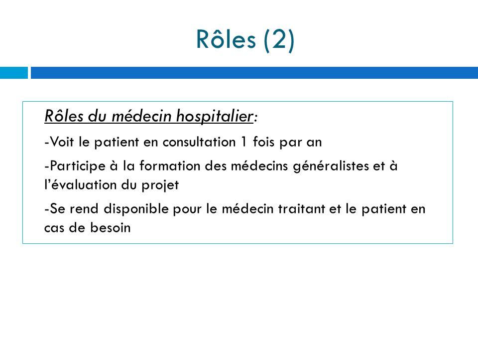 Rôles (2) Rôles du médecin hospitalier:
