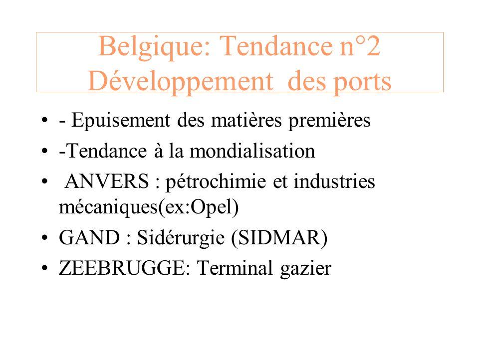 Belgique: Tendance n°2 Développement des ports