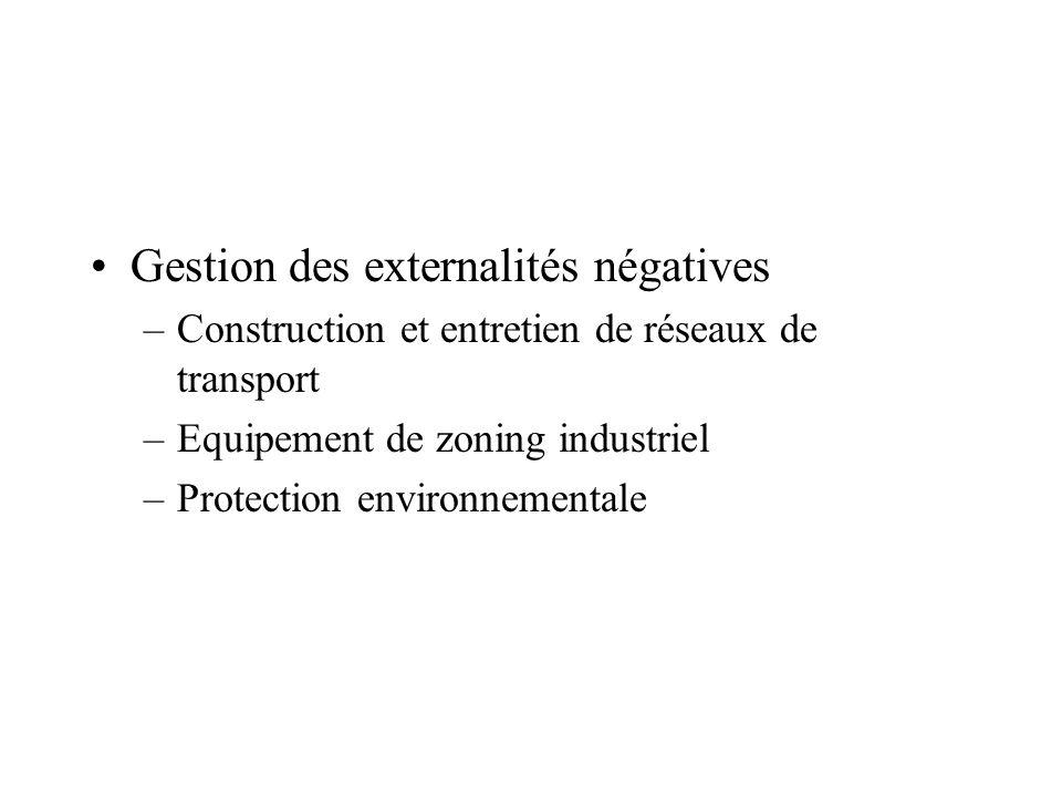 Gestion des externalités négatives