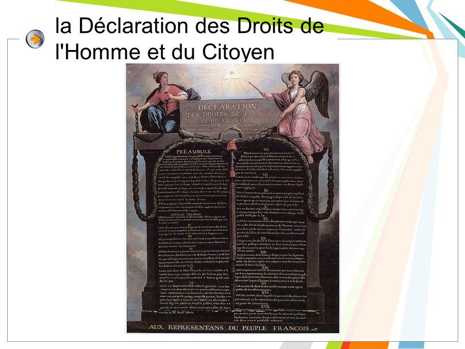 la Déclaration des Droits de l Homme et du Citoyen