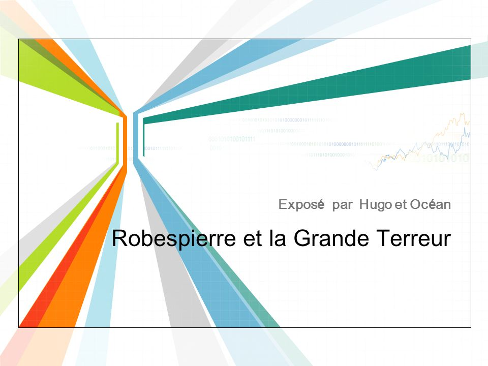 Robespierre et la Grande Terreur