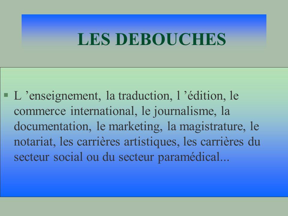 LES DEBOUCHES