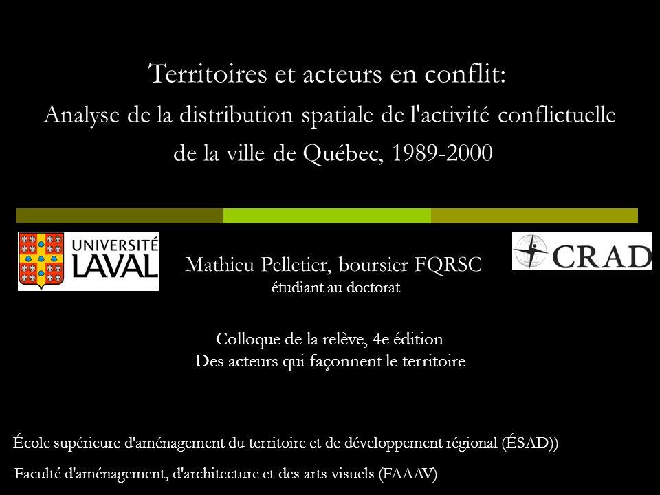 Territoires et acteurs en conflit: