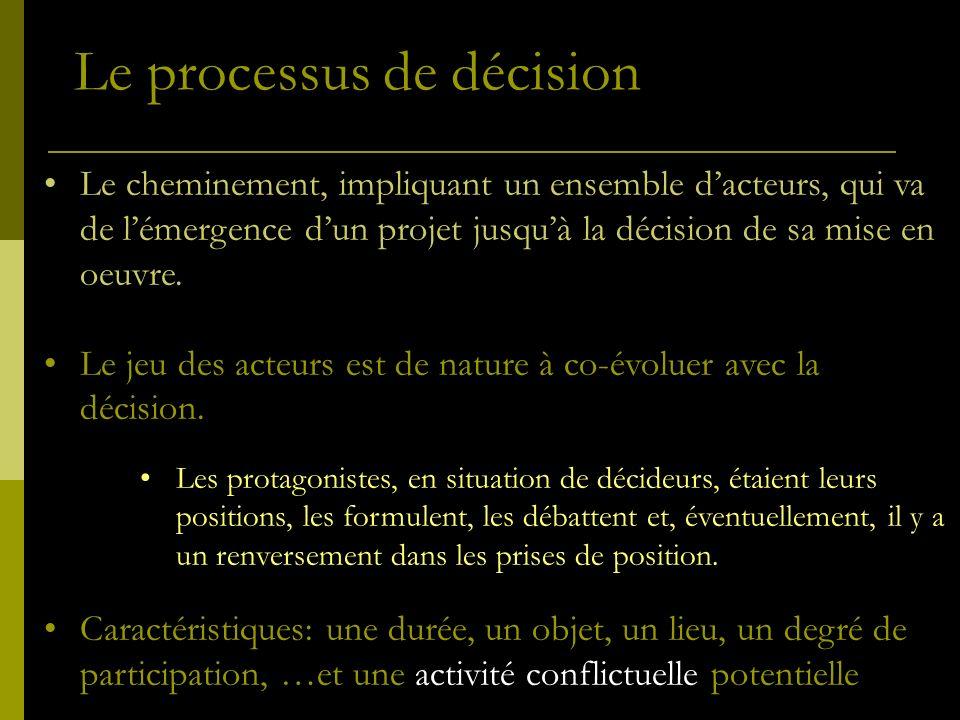 Le processus de décision