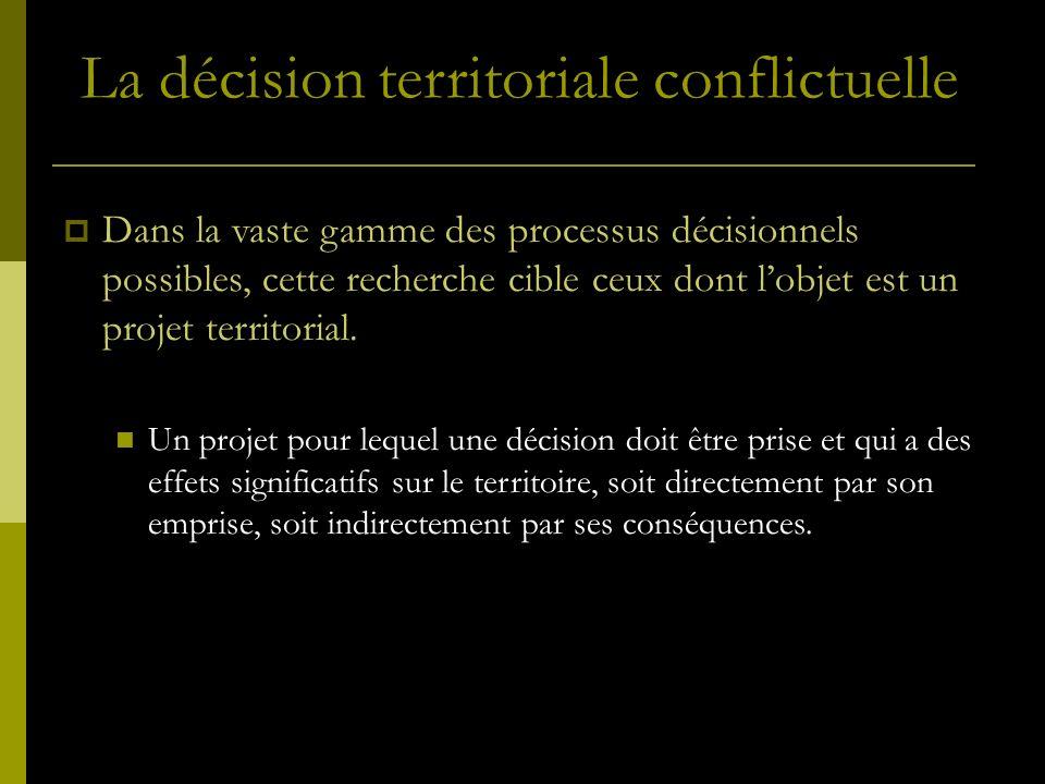 La décision territoriale conflictuelle