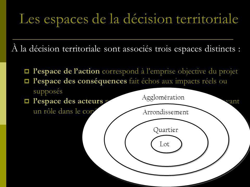 Les espaces de la décision territoriale
