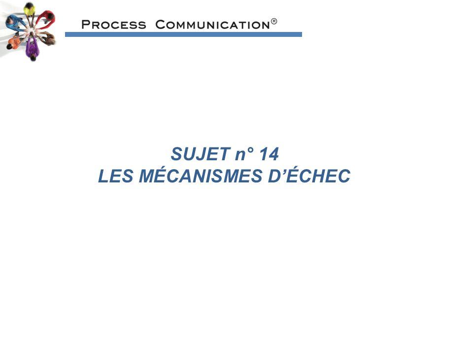 LES MÉCANISMES D'ÉCHEC
