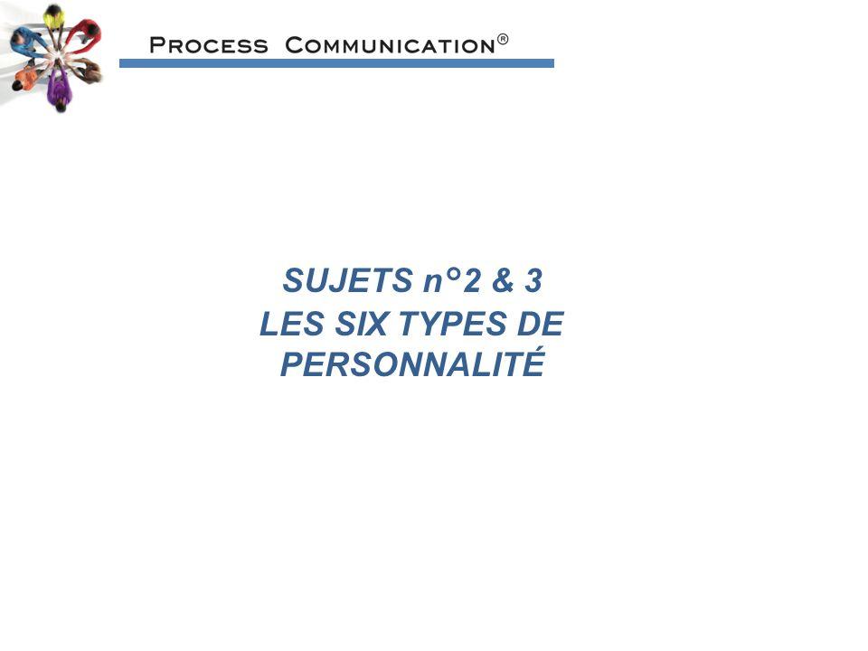 LES SIX TYPES DE PERSONNALITÉ