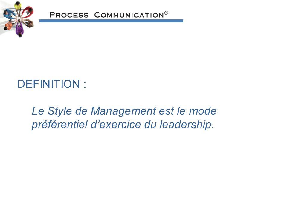 DEFINITION : Le Style de Management est le mode préférentiel d'exercice du leadership.