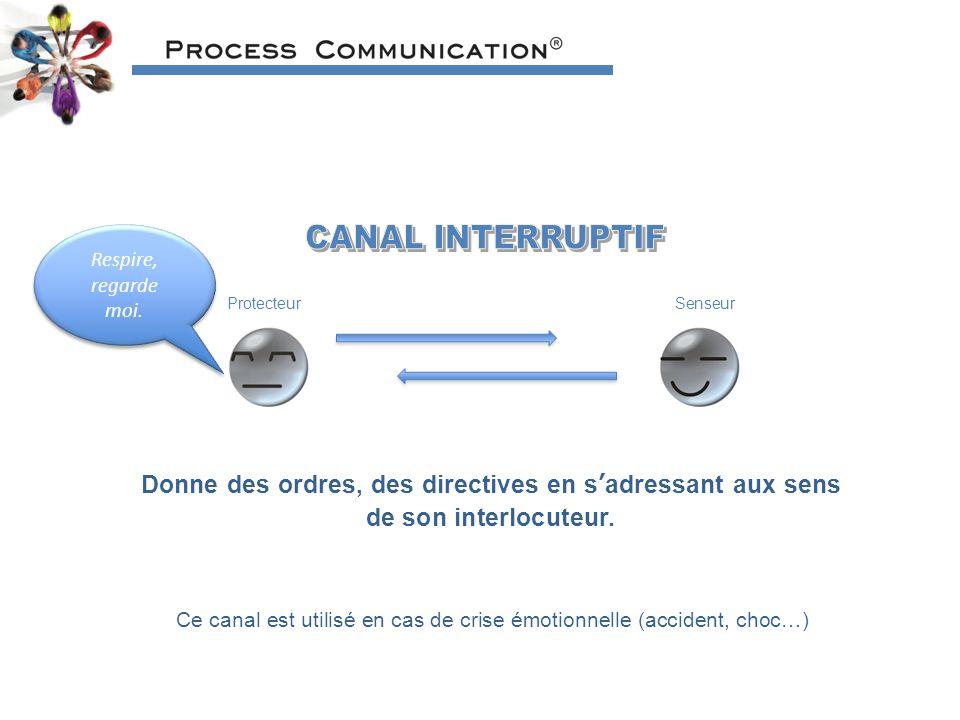 Ce canal est utilisé en cas de crise émotionnelle (accident, choc…)