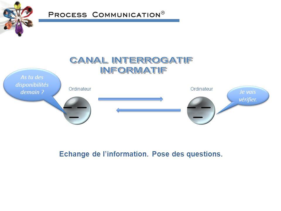 Echange de l'information. Pose des questions.