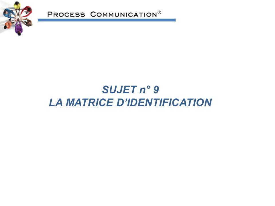 LA MATRICE D'IDENTIFICATION
