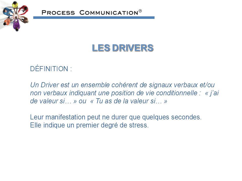 LES DRIVERS DÉFINITION :