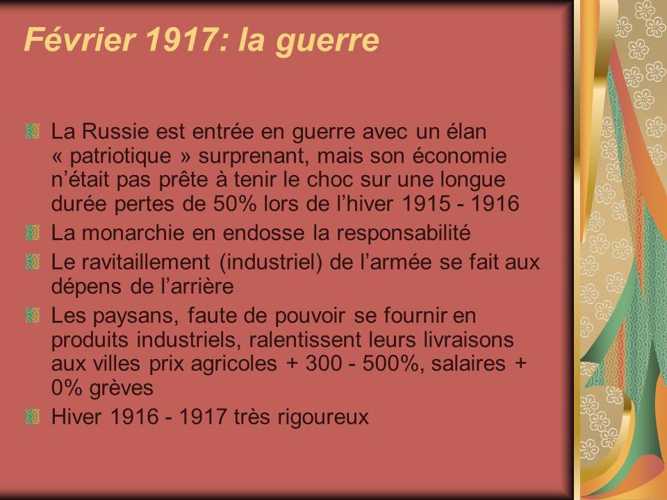 Février 1917: la guerre