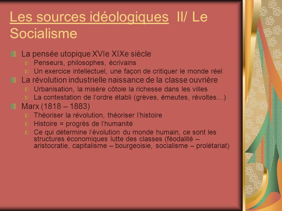 Les sources idéologiques II/ Le Socialisme