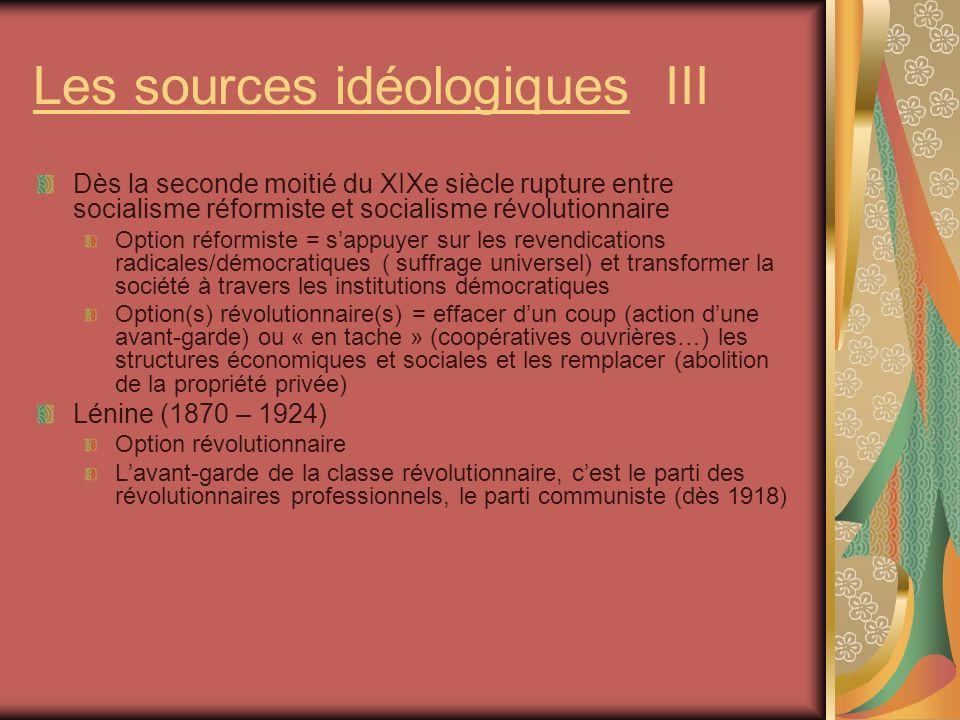Les sources idéologiques III