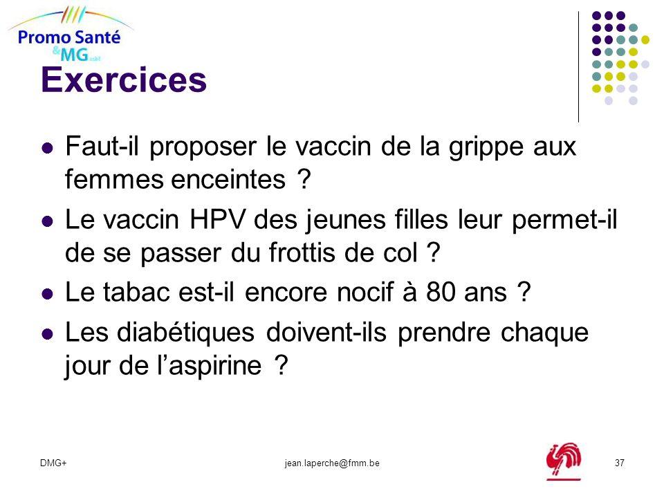 Exercices Faut-il proposer le vaccin de la grippe aux femmes enceintes