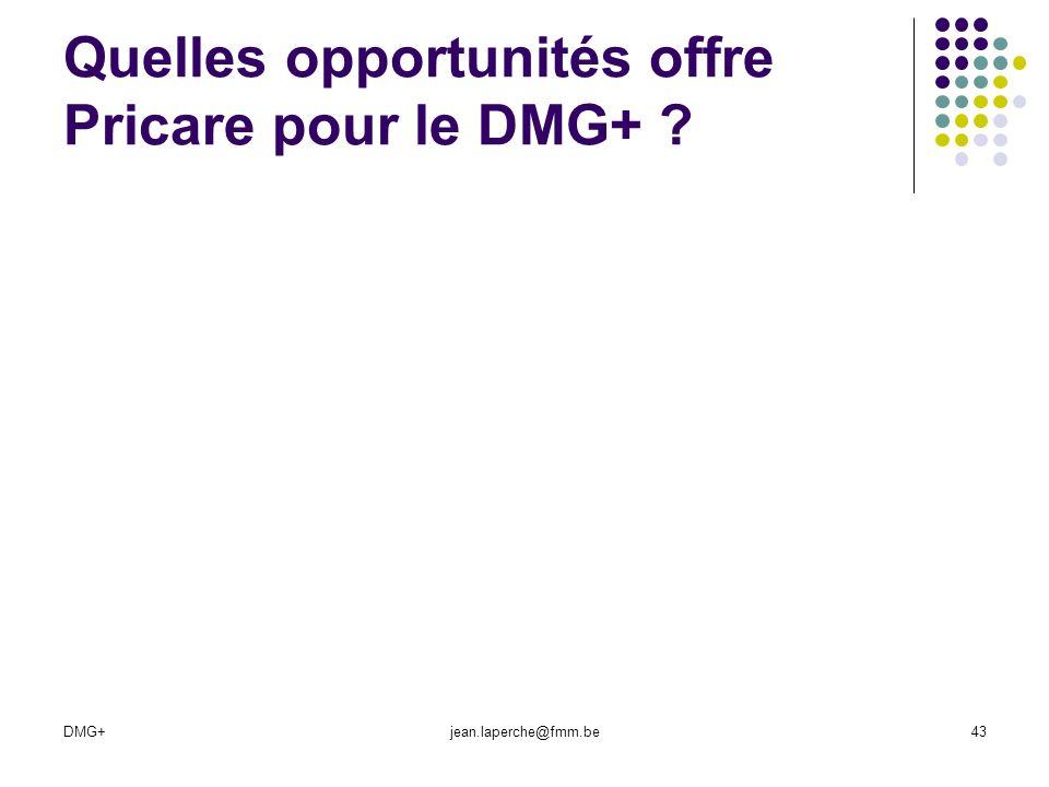 Quelles opportunités offre Pricare pour le DMG+