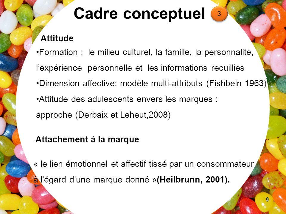 Cadre conceptuel Attitude