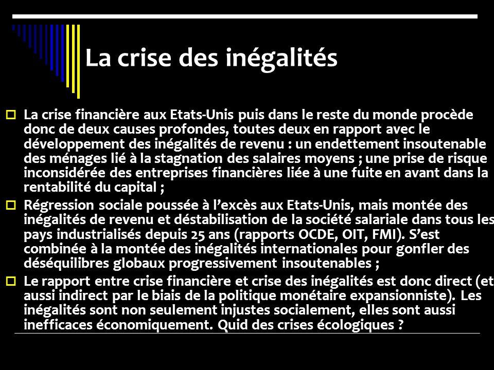 La crise des inégalités