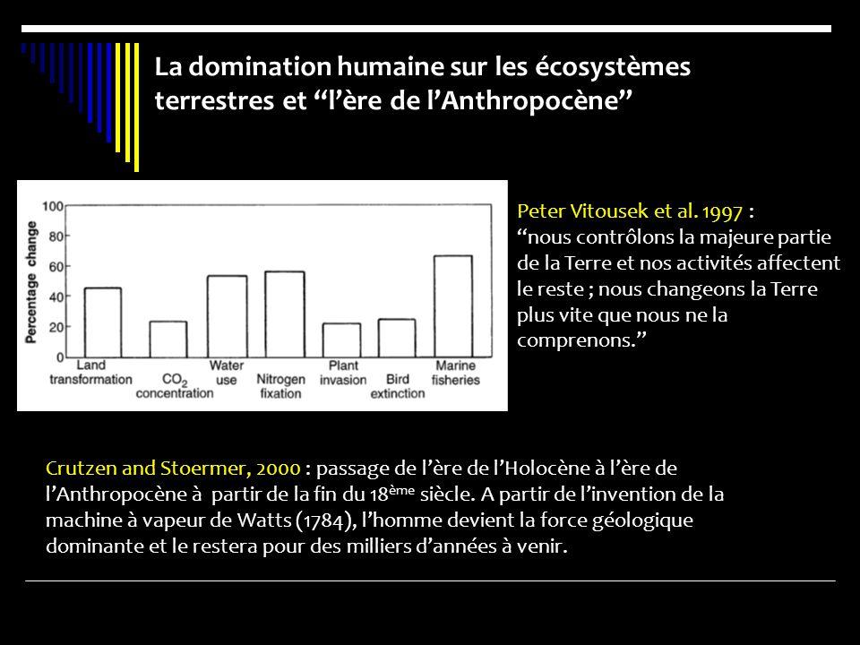 La domination humaine sur les écosystèmes terrestres et l'ère de l'Anthropocène