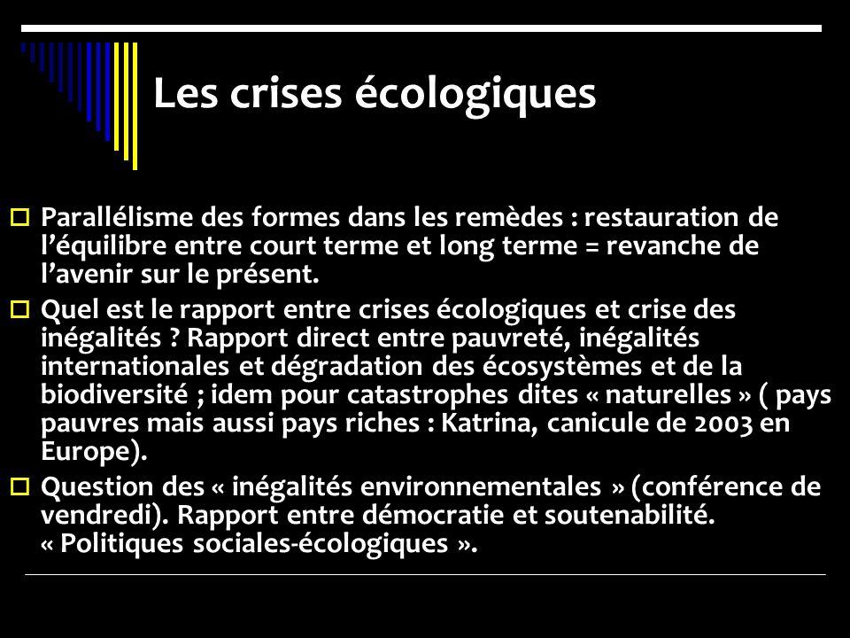 Les crises écologiques