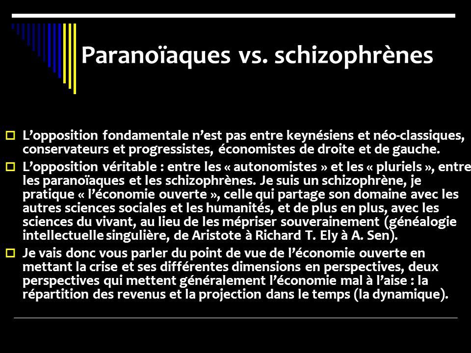 Paranoïaques vs. schizophrènes