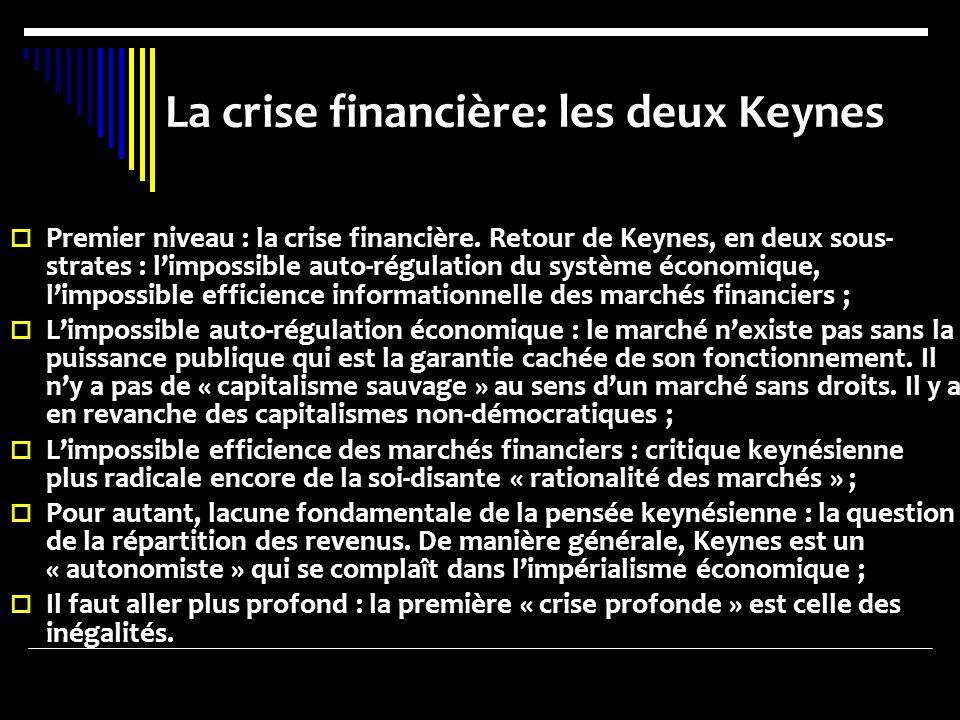 La crise financière: les deux Keynes