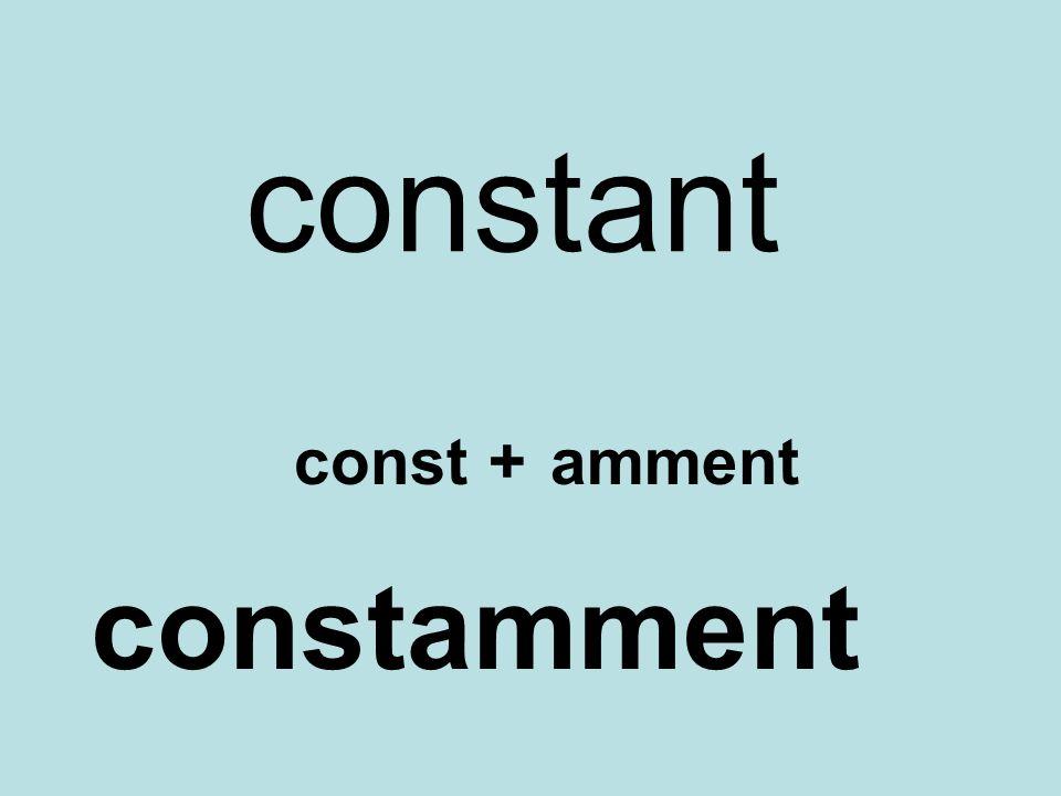 constant const + amment constamment