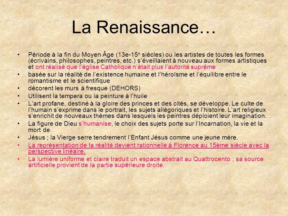 La Renaissance…