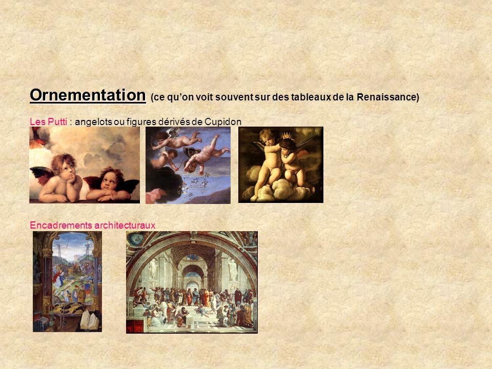 Ornementation (ce qu'on voit souvent sur des tableaux de la Renaissance)