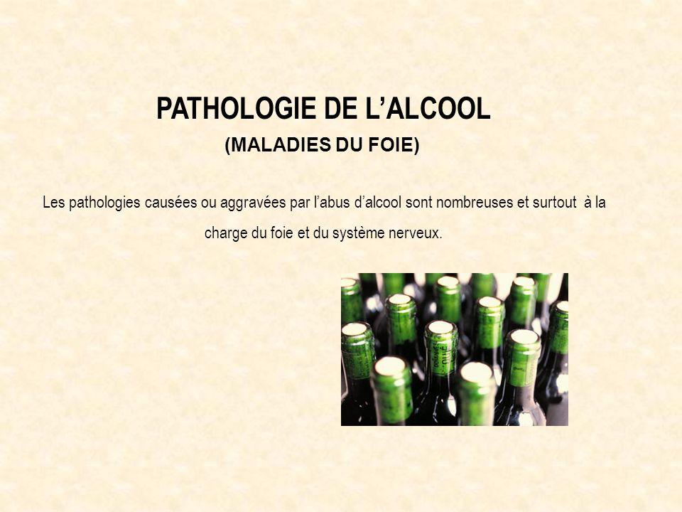 PATHOLOGIE DE L'ALCOOL