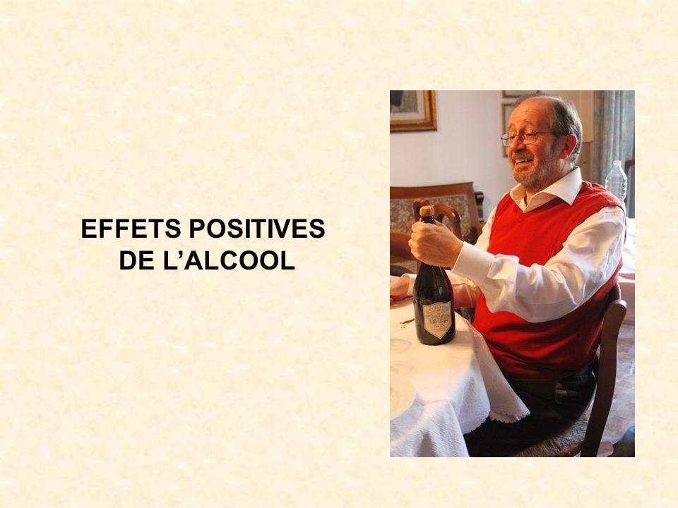 EFFETS POSITIVES DE L'ALCOOL
