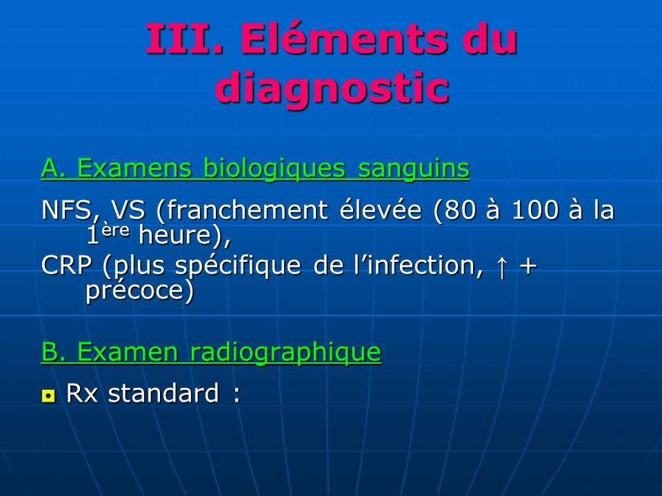III. Eléments du diagnostic