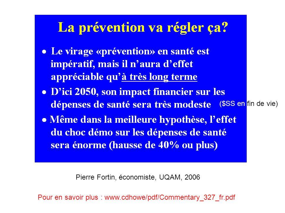 ($SS en fin de vie) Pierre Fortin, économiste, UQAM, 2006.